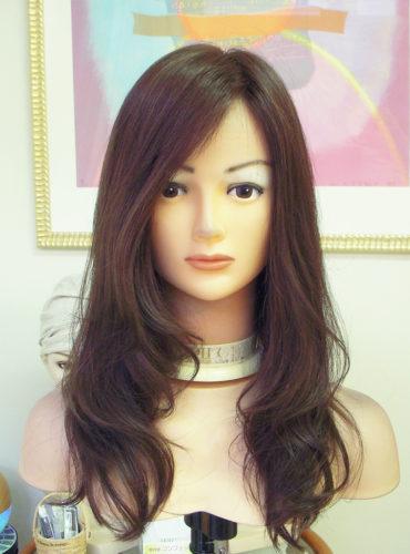 医療用ウィッグ 人毛比率70%のニューミックス毛で作ったロングスタイル1