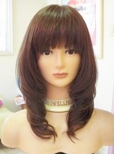 医療用ウィッグ ロングスタイル ひし形ラインのカジュアルな巻き髪