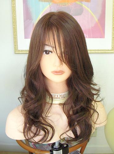 医療用ウィッグ ロングスタイルの巻き髪