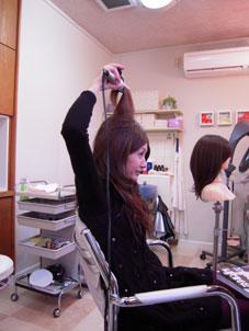 やてみました! 中途半端な盛りヘア。