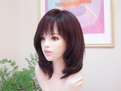 ミディアムスタイル巻き髪横