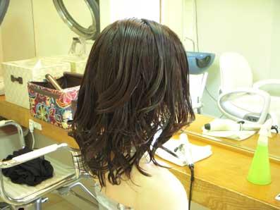 スタイルチェンジ ミックス毛に形状記憶